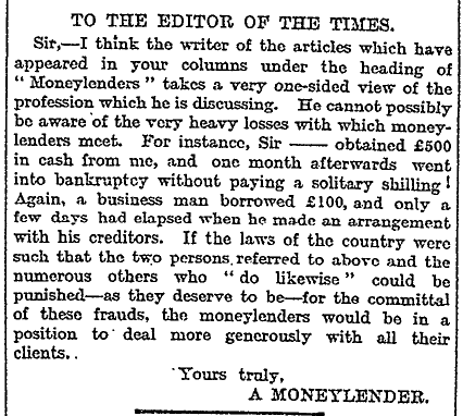 The Times, 11 July 1913 page 3.