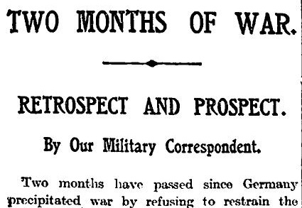 The Times 3 October 1914 p5