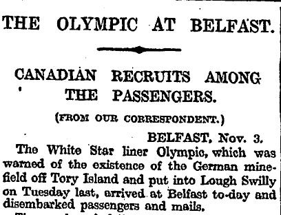 The Times 6 November 1914 p4