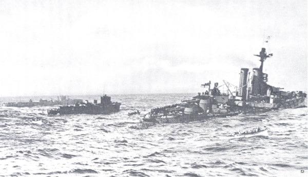 HMS Audacious sinking