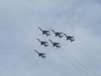 The USAF Thunderbirds put on quite a show.