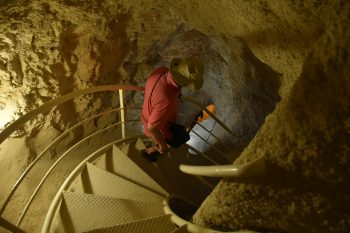 Descending into the cool of Herod's cisterns