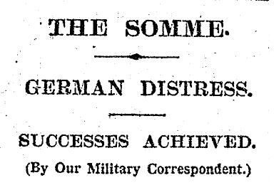 The Times 28 September 1916