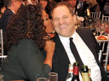 A couple show biz leftwingers share a moment together