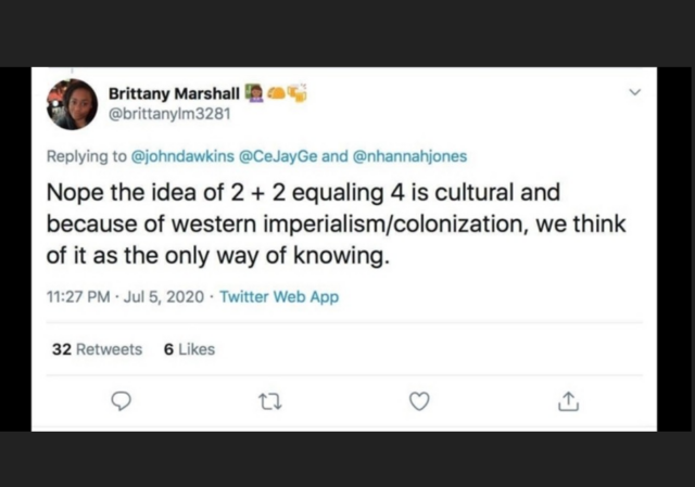 Idea that 2+2=4 is western imperialism