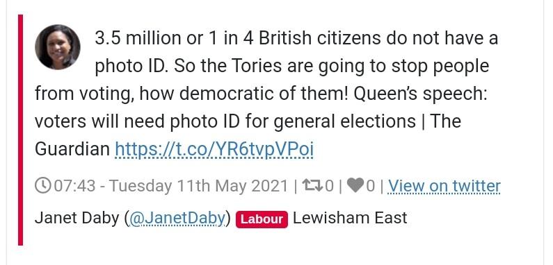 Labour MP thinks 3.5 million is a quarter of UK citizens