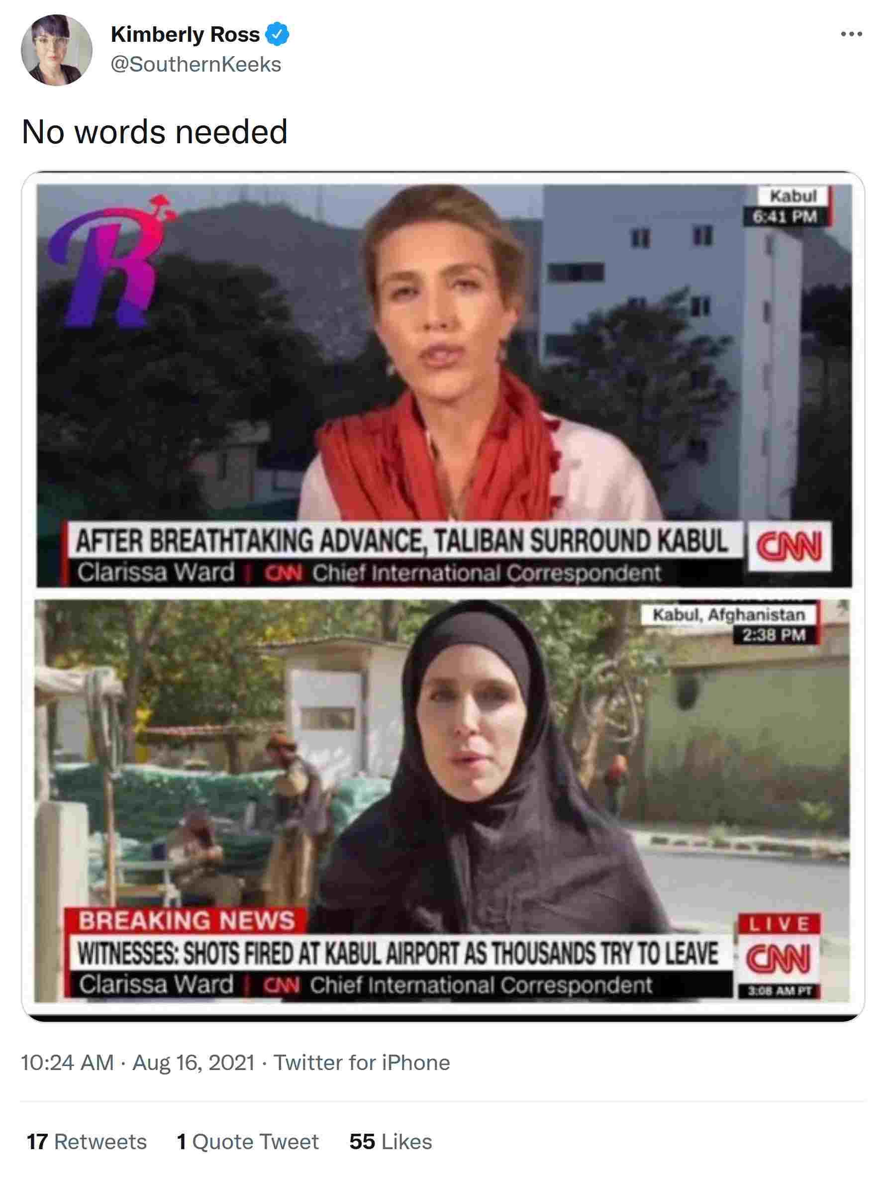 CNNreporterClarrissaWard_AFewDaysApart