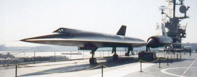 SR-71 on USS Intrepid museum flight deck in Manhattan.