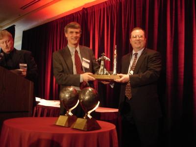 Steve Squires receives the Von Braun Award.