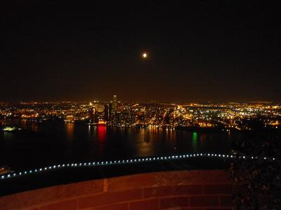 Moon and East River
