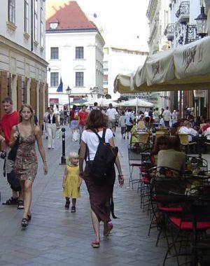 Bratislava means babes and cafés